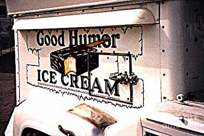 The Ice Cream Truck Is Here Art Print by Merton Allen