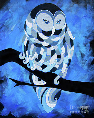 Painting - The Ice Owl by Barbara Rush