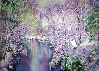 Painting - The Ice Storm  by June Conte  Pryor