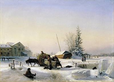 Classic Golf - The ice transport in 1849 by MotionAge Designs
