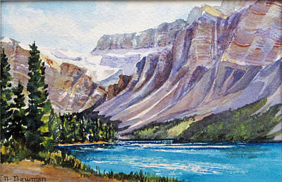 Along-the-icefield-parkway Art Print by Nancy Newman