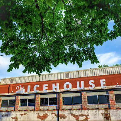 Photograph - The Icehouse - Bentonville Market District - Square Print by Gregory Ballos