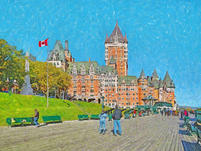 Digital Art - The Iconic Chateau Frontenac In Quebec City by Digital Photographic Arts