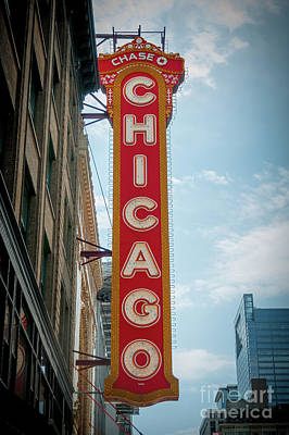 The Iconic Chicago Theater Sign Art Print