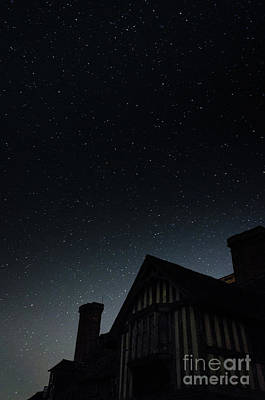 Photograph - The Iconic Front Porch In The Night Sky, Great Dixter by Perry Rodriguez