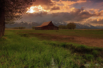 Photograph - The Iconic Moulton Barn by Johnny Adolphson