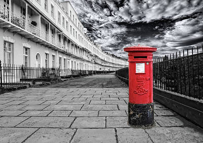 Mail Box Photograph - The Iconic Royal York Crescent In Clifton , Bristol , Uk by Alex Hardie