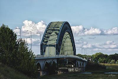 Natuur Photograph - The Ijsselbrug As Seen From Hattem by Rene Van Rijssen