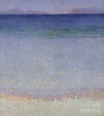 Oil Landscape Painting - The Iles Dor by Henri Edmond Cross