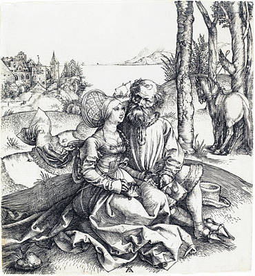 Drawing - The Ill-assorted Couple by Albrecht Durer