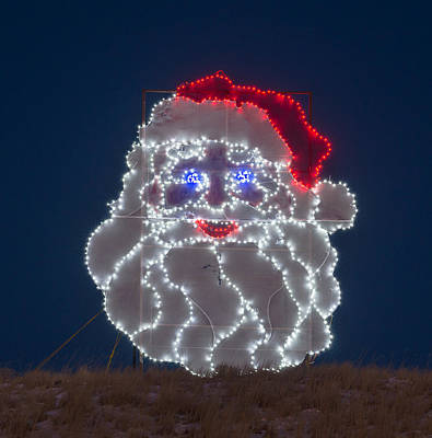 Photograph - The Illuminated Saint Nick.   by Bijan Pirnia