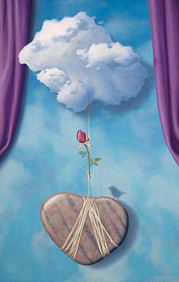 Metaphysical Painting - The Illusion Of Love by Paul Bond