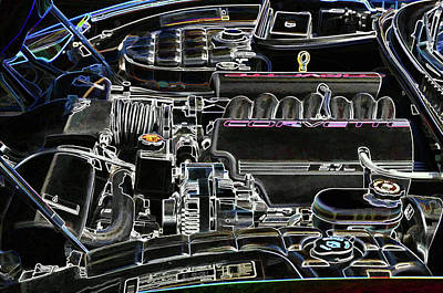 The Image Of A Car Engine Compartment Art Print by Lanjee Chee