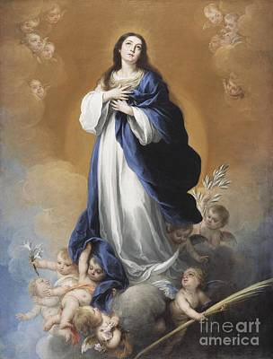 Cherub Painting - The Immaculate Conception  by Bartolome Esteban Murillo