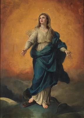 Caucasian Painting - The Immaculate Conception Mengs, Anton Rafael by Anton Rafael