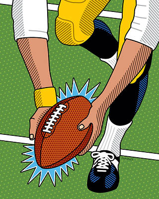 Digital Art - The Immaculate Reception by Ron Magnes