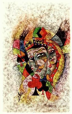 Syeda Ishrat Painting - 'the Impact Of Hearts' by Syeda Ishrat