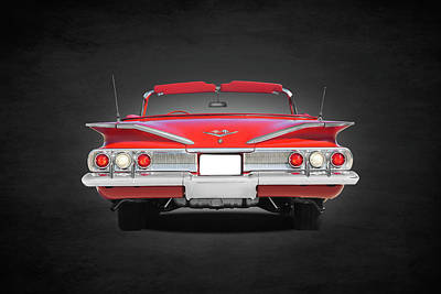 Chevrolet Impala Photograph - The Impala Rear by Mark Rogan