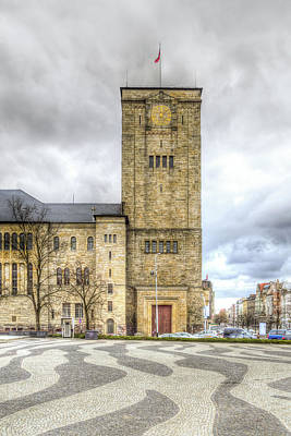 Photograph - The Imperial Castles East Side Of Tower Hdr A Poznan Poland by Jacek Wojnarowski