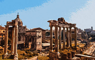 Painting - The Imperial Fora, Rome - 01 by Andrea Mazzocchetti