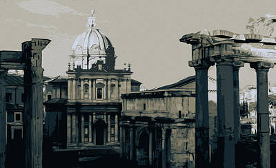 Painting - The Imperial Fora, Rome - 04 by Andrea Mazzocchetti