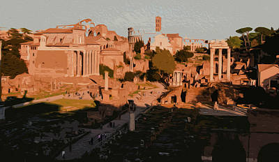 Painting - The Imperial Fora, Rome - 05  by Andrea Mazzocchetti