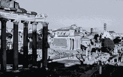 Painting - The Imperial Fora, Rome - 06 by Andrea Mazzocchetti