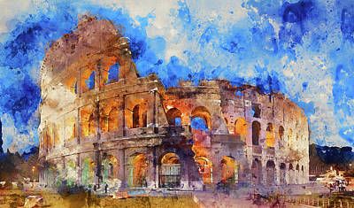 Painting - The Imperial Fora, Rome - 11 by Andrea Mazzocchetti