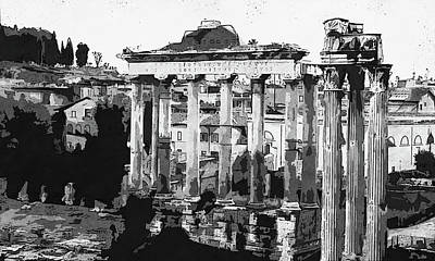 Painting - The Imperial Fora, Rome - 15 by Andrea Mazzocchetti