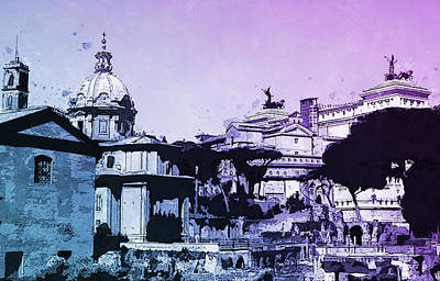 Painting - The Imperial Fora, Rome - 16 by Andrea Mazzocchetti
