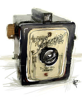 Vintage Camera Mixed Media - The Imperial by Russell Pierce