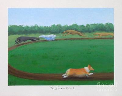 Greyhound Races Painting - The Impostor I by Phyllis Andrews