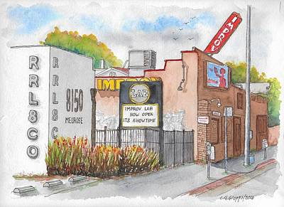 Painting - The Improv Comedy Store In Melrose Blvd., West Hollywood, California by Carlos G Groppa