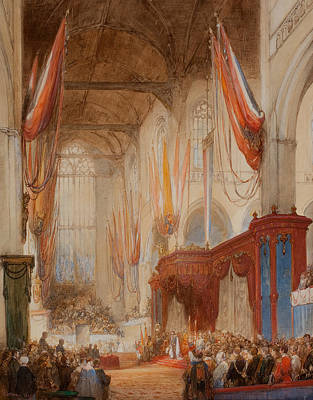 Inauguration Painting - The Inauguration Of King Willem IIi by Johannes Bosboom