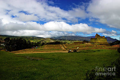 Photograph - The Inca-canari Ruins At Ingapirca Iv by Al Bourassa