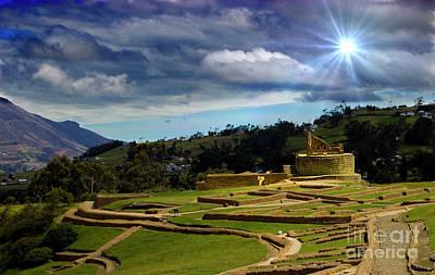 Photograph - The Inca-canari Ruins At Ingapirca Ix by Al Bourassa