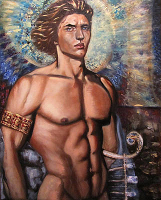 The Incarnation Of The Archangel Michael Original by Aleksei Gorbenko