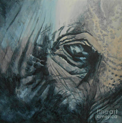 Painting - The Incredible - Elephant by Jane See