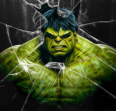 The Incredible Hulk Mixed Media - The Incredible Hulk Collection by Marvin Blaine