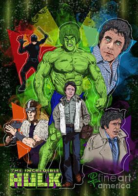 The Incredible Hulk Art Print by Joseph Burke