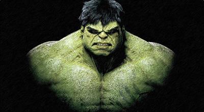 Incredible Hulk Drawing - The Incredible Hulk Pencil Sketch  by Movie Poster Prints