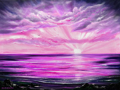 Painting - The Incredible Journey - Purple Sunset by Gina De Gorna