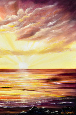 Painting - The Incredible Journey - Vertical Sunset by Gina De Gorna