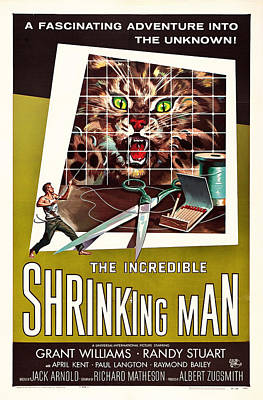 The Incredible Shrinking Man 1957 Art Print by Mountain Dreams
