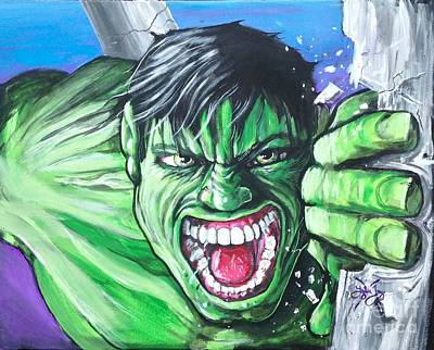 The Incredible Hulk Painting - The Incredible by Tyler Haddox