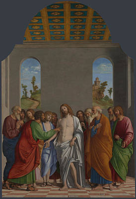 Incredulity Digital Art - The Incredulity Of Saint Thomas by Giovanni Battista Cima da Conegliano