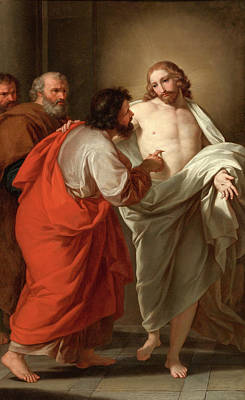 Incredulity Painting - The Incredulity Of Saint Thomas by Giuseppe Bottani