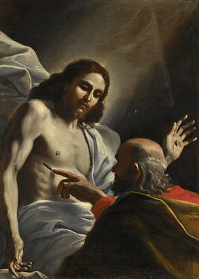 Incredulity Painting - The Incredulity Of Saint Thomas by Mattia Preti