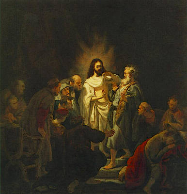 Incredulity Digital Art - The Incredulity Of St Thomas  by Rembrandt