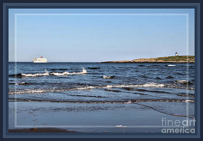 Photograph - The Independence Cruising By Pond Island Lighthouse by Sandra Huston
